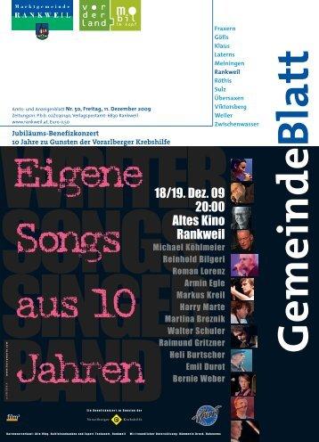 18/19. Dez. 09 20:00 Altes Kino Rankweil