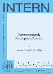 Duplexsonographie der peripheren Arterien - Berufsverband ...