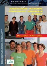 2/2007 - Schweizerische Interessengemeinschaft für Anästhesiepflege