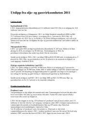 Utslipp fra olje- og gassvirksomheten 2011 - Norsk olje og gass