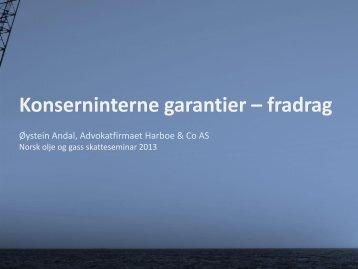 Konserninterne garantier – fradrag - Norsk olje og gass