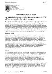 PRESSEMELDING Nr 17/96 Markering i Oljedirektoratet ...