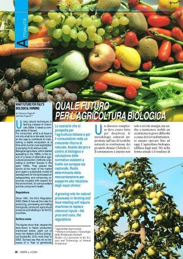 quale futuro per l'agricolturabiologica quale futuro ... - FederUnacoma