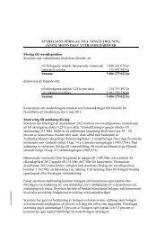 Styrelsens förslag till vinstutdelning samt yttrande - AAK