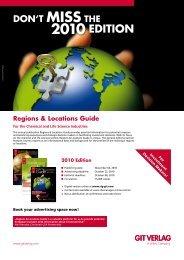Regions & Locations Guide - GIT Verlag
