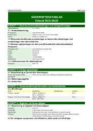 SÄKERHETSDATABLAD Tefacid RCO 80/20 - AAK