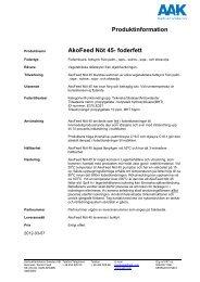 Produktspec Akofeed Nöt - AAK