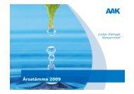 Årsstämma 2009 - AAK