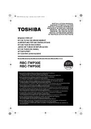 2 component - Toshiba AIR CONDITIONING