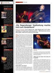 Musiker - Regensburger Stadtzeitung