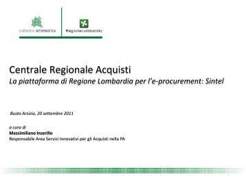 Sintel - eProcurement in Lombardia - CCIAA di Varese