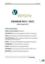 Valgprogram 2011 til 2015 - Venstre