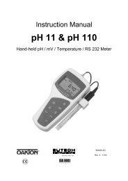 pH 11 & pH 110 - Eutech