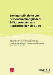 Erläuterungen zum Rundschreiben des BMI - ver.di b+b