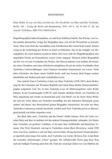 Rezensionen - Verlag für Berlin-Brandenburg