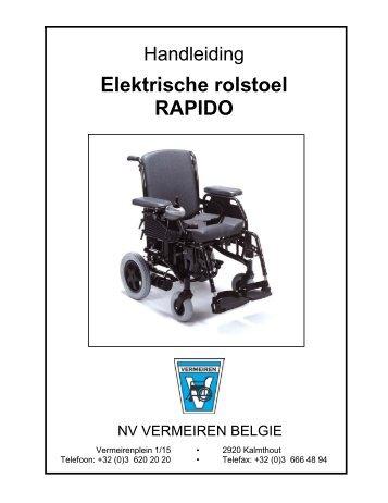 Elektrische rolstoel RAPIDO - Vermeiren