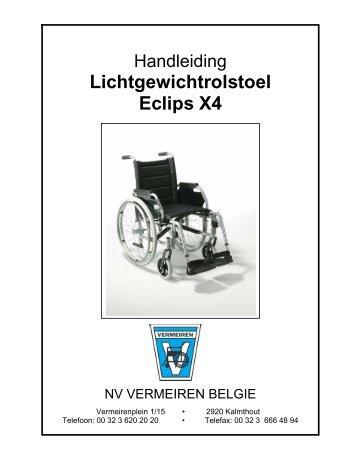 Lichtgewichtrolstoel Eclips X4 - Vermeiren