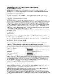 Produktinformationsblatt Interlloyd Hausratversicherung