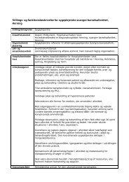 Stillings- og funktionsbeskrivelse sygeplejerske svangre- barsel