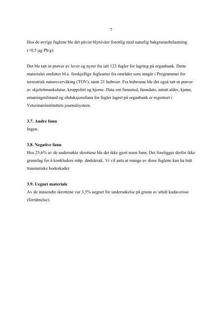 Fallviltrapporten 1998 - Veterinærinstituttet