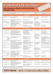 Flohmarktkalender 1 2012 - Gießener Allgemeine
