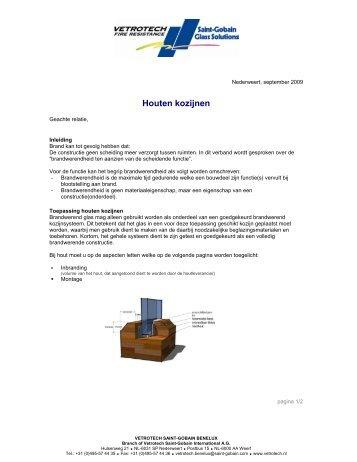 Houten kozijnen - Vetrotech Saint-Gobain