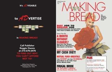 MY CASH DIET! - Making Bread Magazine