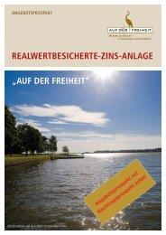 """RealweRtBesicheRte-Zins-anlage """"auf deR fReiheit"""" - V&F Treuhand"""