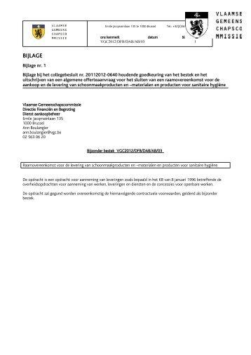 BIJLAGE - Vlaamse Gemeenschapscommissie