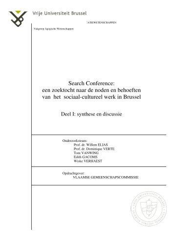 Search Conference - Vlaamse Gemeenschapscommissie