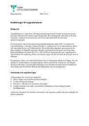 Ersättningar till organdonatorer - Västra Götalandsregionen