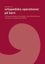 Information om ortopediska operationer - Västra Götalandsregionen
