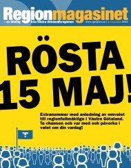 Extranummer om regionvalet 15 maj - Västra Götalandsregionen