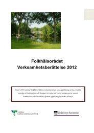 Verksamhetsberättelse 2012Nytt fönster. (381.6 Kb) - Västra ...