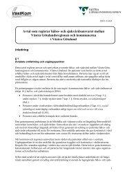 och sjukvårdsavtal 2012-2016 - Västra Götalandsregionen