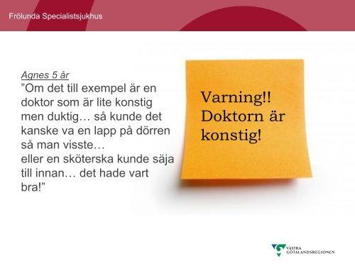 Patientdialog på Frölunda Specialist sjukhus