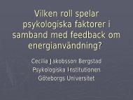 Vilken roll spelar psykologiska faktorer i samband med feedback om ...