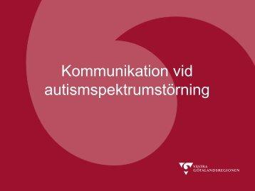 Kommunikation vid autismspektrumstörning