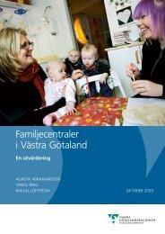 Utvärdering av familjecentraler i Västra Götaland