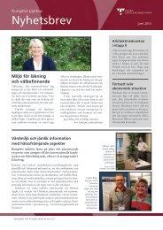 Kungälvs sjukhus nyhetsbrev. juni 2013 (pdf, nytt fönster)