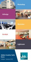 Adobe Creative Suite - Volkshochschule Oldenburg