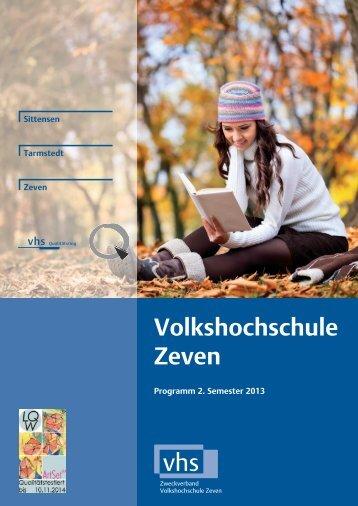 Programmheft 2013 / 2. Semester - download pdf-Datei - VHS Zeven