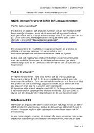 Faktablad om D-vitamin - Konsumenter i samverkan