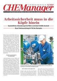16/2007 Arbeitssicherheit muss in die Köpfe hinein ... - GIT Verlag