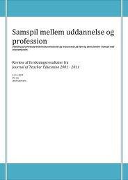 Udvikling af lærerstuderendes kultursensitivitet og ressourcesyn på ...