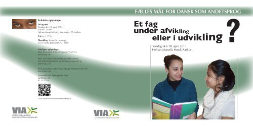 Hent folderen her - VIA University College