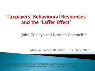 "Taxpayers"" Behavioural Responses and the ""Laffer Effect"""