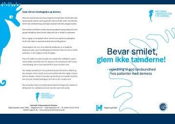Bevar smilet, - Nationalt Videnscenter for Demens