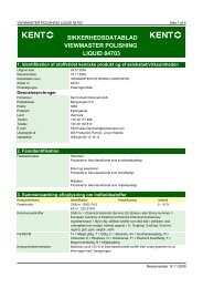 SIKKERHEDSDATABLAD VIEWMASTER POLISHING LIQUID 84703