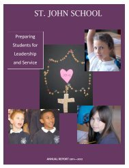 Annual Report 2011/2012 - St. John School